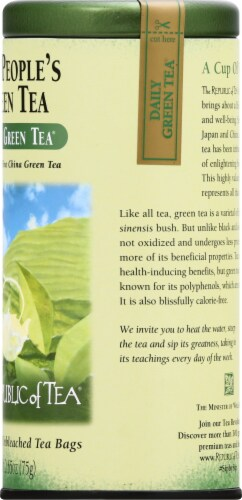 The Republic of Tea Green Perspective: right