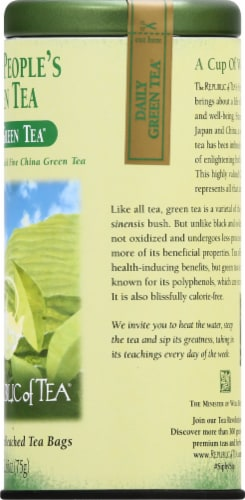The Republic of Tea Decaf People's Green Tea Bags Perspective: right