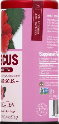 The Republic of Tea Natural Hibiscus Superflower Tea Perspective: right