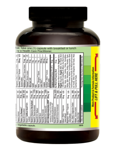 Emerald Men's 1-Daily Multivitamin Vegetable Caps Perspective: right