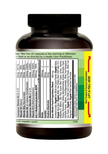 Emerald Labs CoEnzymated B Healthy Vegetable Capsules Perspective: right