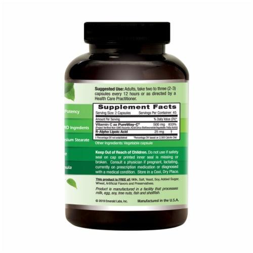 Emerald PureWay C + R-Alpha Lipoic Acid Vegetable Caps Perspective: right