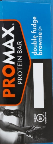 Promax Double Fudge Brownie Protein Bars 12 Count Perspective: right