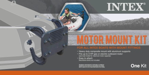 Intex Seahawk 2 Inflatable Boat Set + Oars/Pump/Motor Mount   68347EP + 68624E Perspective: right