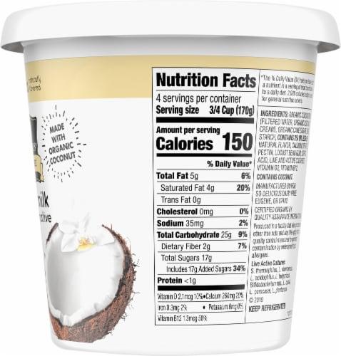 SO Delicious Dairy Free Vanilla Coconutmilk Yogurt Alternative Perspective: right