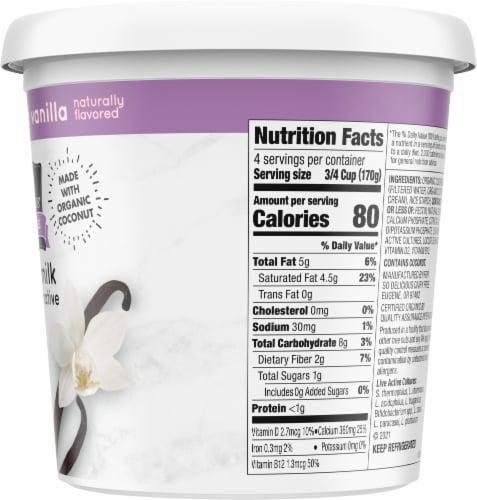 SO Delicious Dairy Free Unsweetened Vanilla Coconutmilk Yogurt Alternative Perspective: right