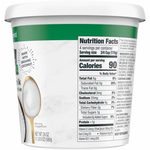 SO Delicious Dairy Free Unsweetened Coconutmilk Yogurt Alternative Perspective: right