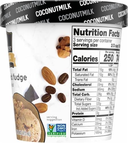 SO Delicious Dairy Free Mocha Almond Fudge Coconutmilk Frozen Dessert Perspective: right