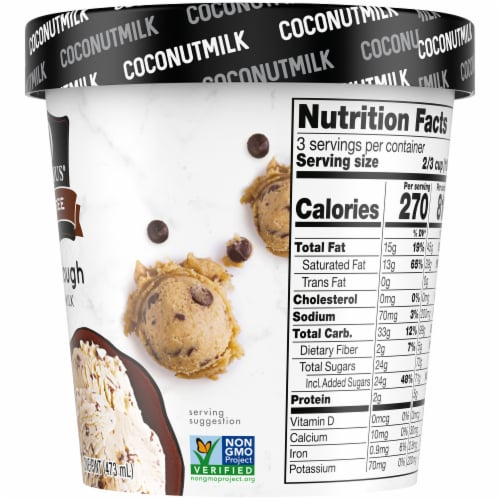 SO Delicious Cookie Dough Coconutmilk Non-Dairy Frozen Dessert Perspective: right