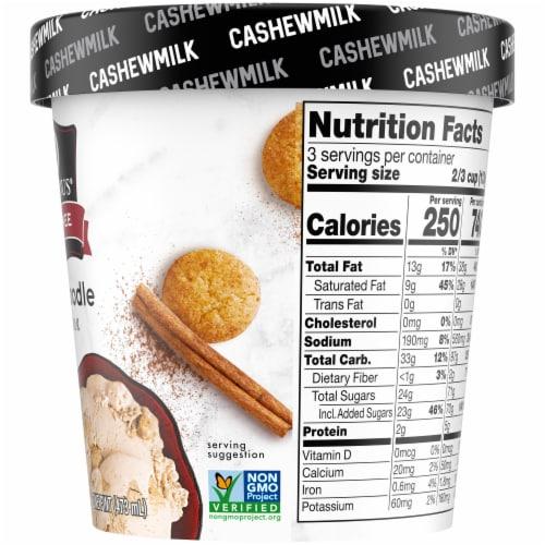 SO Delicious Snickerdoodle Cashewmilk Non-Dairy Frozen Dessert Perspective: right