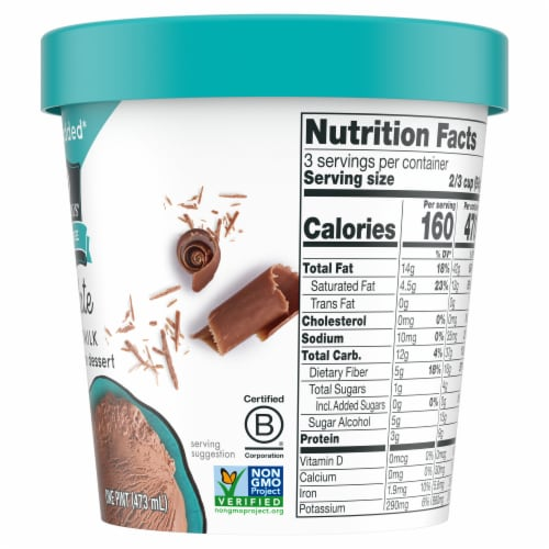SO Delicious Dairy Free Chocolate Coconutmilk Frozen Dessert Perspective: right