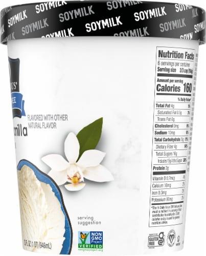SO Delicious Dairy Free Creamy Vanilla Soymilk Frozen Dessert Perspective: right
