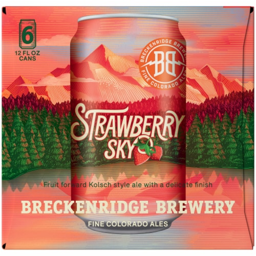 Breckenridge Brewery Strawberry Sky Kolsch Style Ale Beer Perspective: right