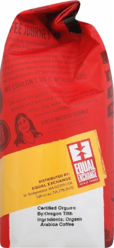 Equal Exchange Organic Mind Body & Soul Ground Coffee Perspective: right