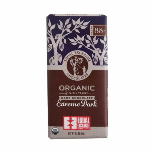 Equal Exchange Organic 88% Cacao Extreme Dark Chocolate Bar Perspective: right