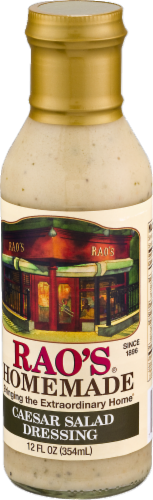 Rao's Homemade Caesar Salad Dressing Perspective: right