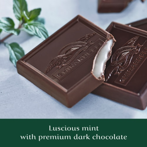 Ghirardelli Mint Filled Dark Chocolate Squares Perspective: right