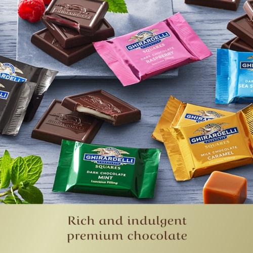 Ghirardelli® Premium Chocolate Squares Assortment Perspective: right