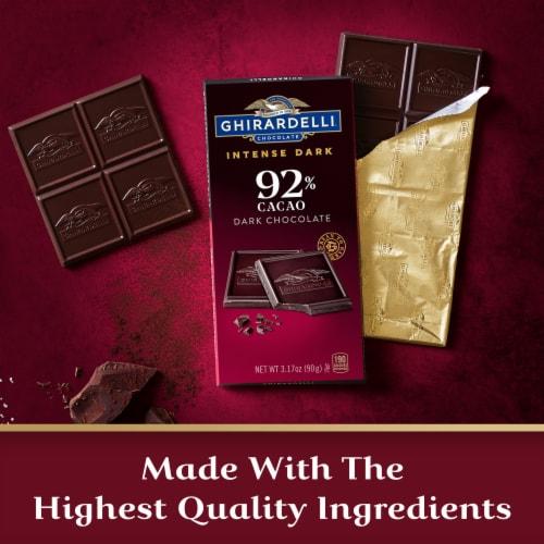 Ghirardelli Intense Dark 92% Cacao Chocolate Bar Perspective: right