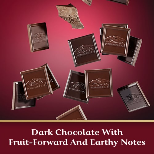 Ghirardelli Intense Dark 92% Cacao Dark Chocolate Squares Perspective: right