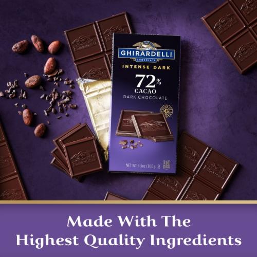 Ghirardelli Intense Dark 72% Cacao Chocolate Bar Perspective: right