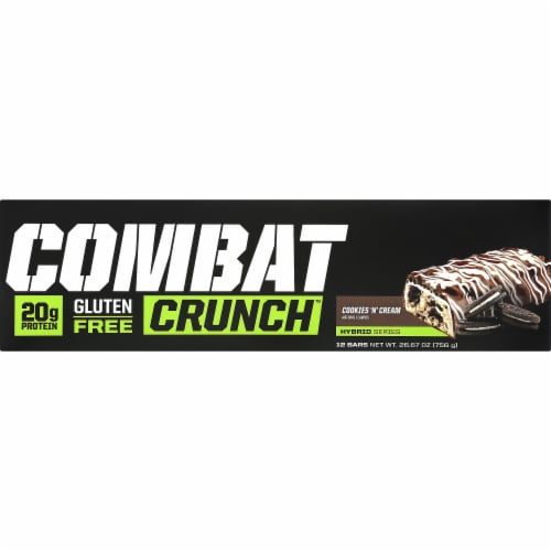 MusclePharm  Combat Crunch™ Bars   Cookies 'N Cream Perspective: right