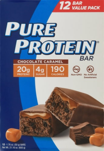 Pure Protein® Chocolate Caramel Bars Perspective: right