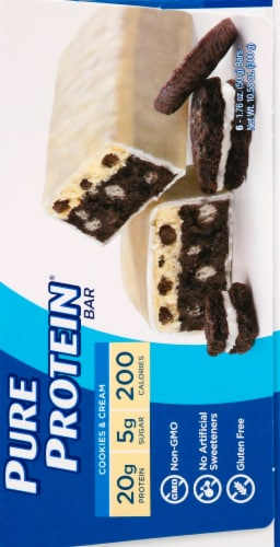 Pure Protein Cookies & Cream Bars Perspective: right