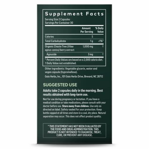 Gaia Herbs Vitex Berry Vegan Liquid Phyto-Caps Perspective: right