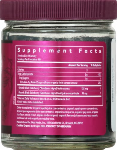 GaiaKids Black Elderberry Kids Daily Gummies Perspective: right