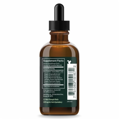 Gaia® Herbs Sinus Comfort™ Herbal Supplement Perspective: right