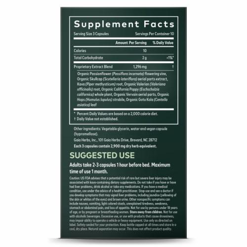 Gaia Herbs® Sound Sleep Vegan Liquid Phyto-Caps Perspective: right