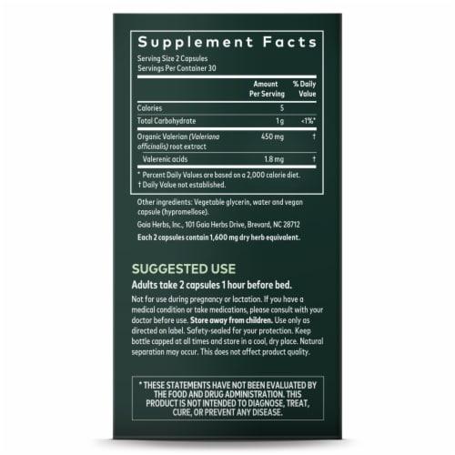 Gaia Herbs Valerian Root Herbal Supplement Vegan Liquid Phyto-Caps Perspective: right