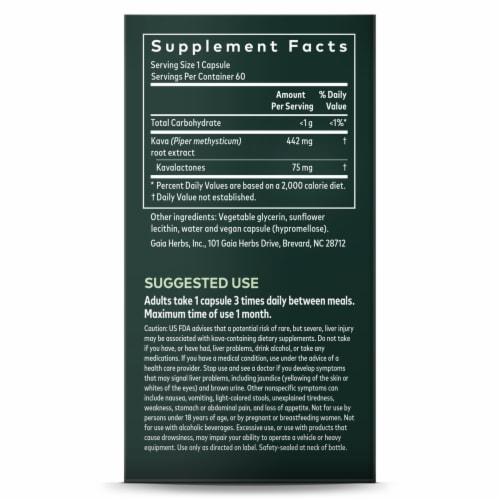 Gaia® Herbs Kava Kava Root Liquid Phyto Caps Perspective: right
