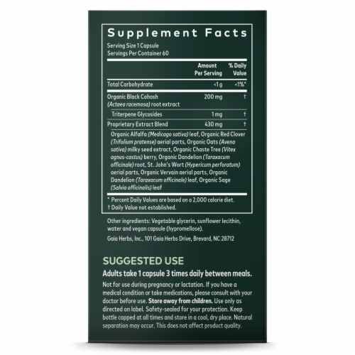 Gaia Herbs SystemSupport Women's Balance Dietary Supplement Perspective: right