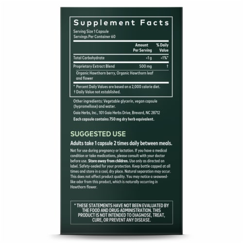 Gaia Herbs® Hawthorn Supreme Supplement Perspective: right