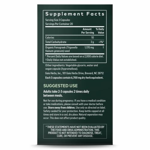 Gaia Herbs Fenugreek Seed Herbal Supplement Vegan Liquid Phyto-Caps Perspective: right