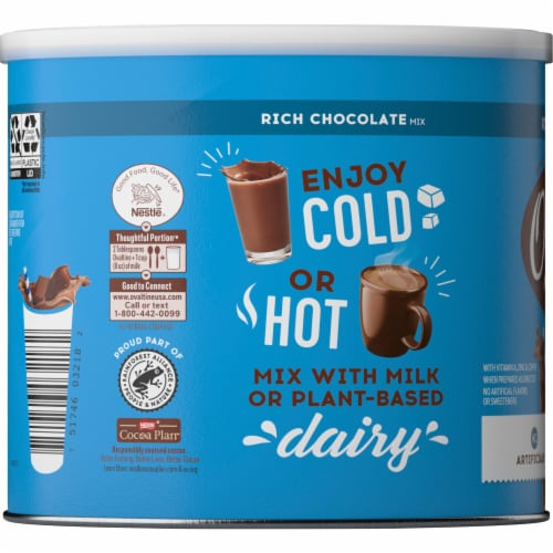 Ovaltine® Rich Chocolate Flavored Milk Mix Perspective: right