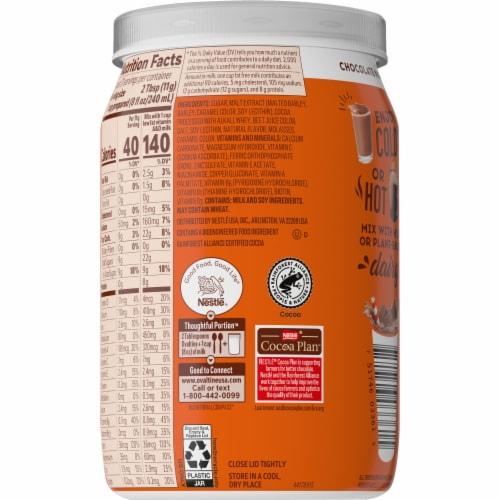 Ovaltine Chocolate Malt Flavored Milk Mix Perspective: right