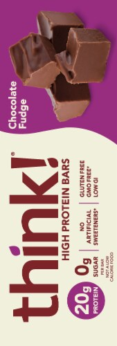 think! Chocolate Fudge High Protein Bars Perspective: right