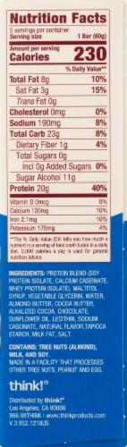 thinkThin® Gluten Free Brownie Crunch High Protein Bars Perspective: right