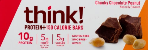 thinkThin Chunky Chocolate Peanut Protein Bars 10 Count Perspective: right