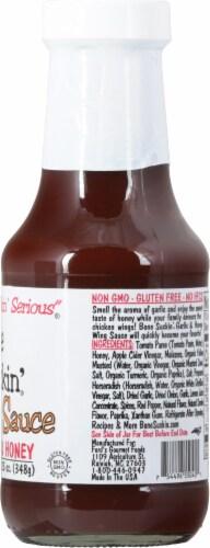Bone Suckin' Sauce Garlic & Honey Wing Sauce Perspective: right