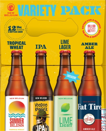 New Belgium Folly Beer Variety Pack Perspective: right