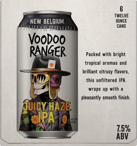 New Belgium Voodoo Ranger Juicy Haze IPA Perspective: right