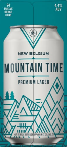 New Belgium Mountain Time Premium Lager Perspective: right