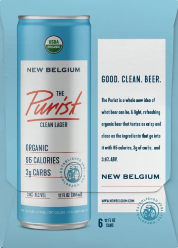 New Belgium The Purist Clean Lager Perspective: right