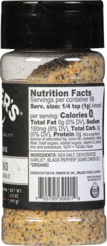 Kinder's Organic The Blend Seasoning Perspective: right