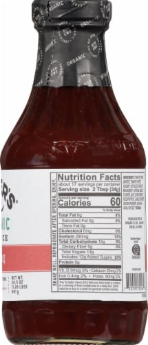 Kinder's Organic Hot Bbq Sauce Perspective: right