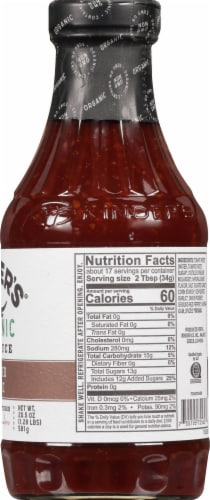 Kinder's Organic Roasted Garlic Bbq Sauce Perspective: right